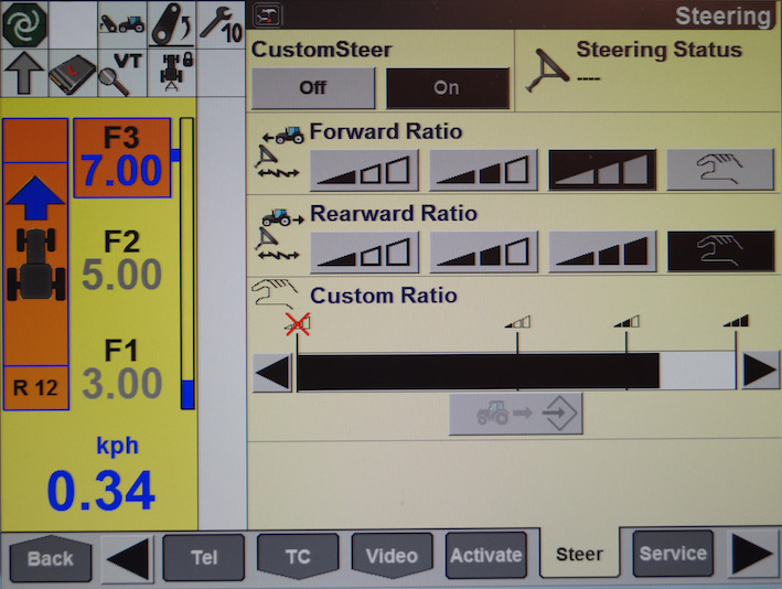 NH T7 270 Custom Steer Screen